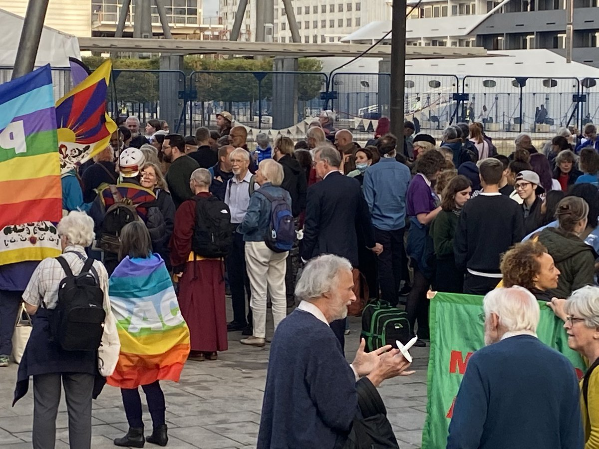 Meanwhile, a multi faith vigil continues to grow at West Gate #StopDSEI