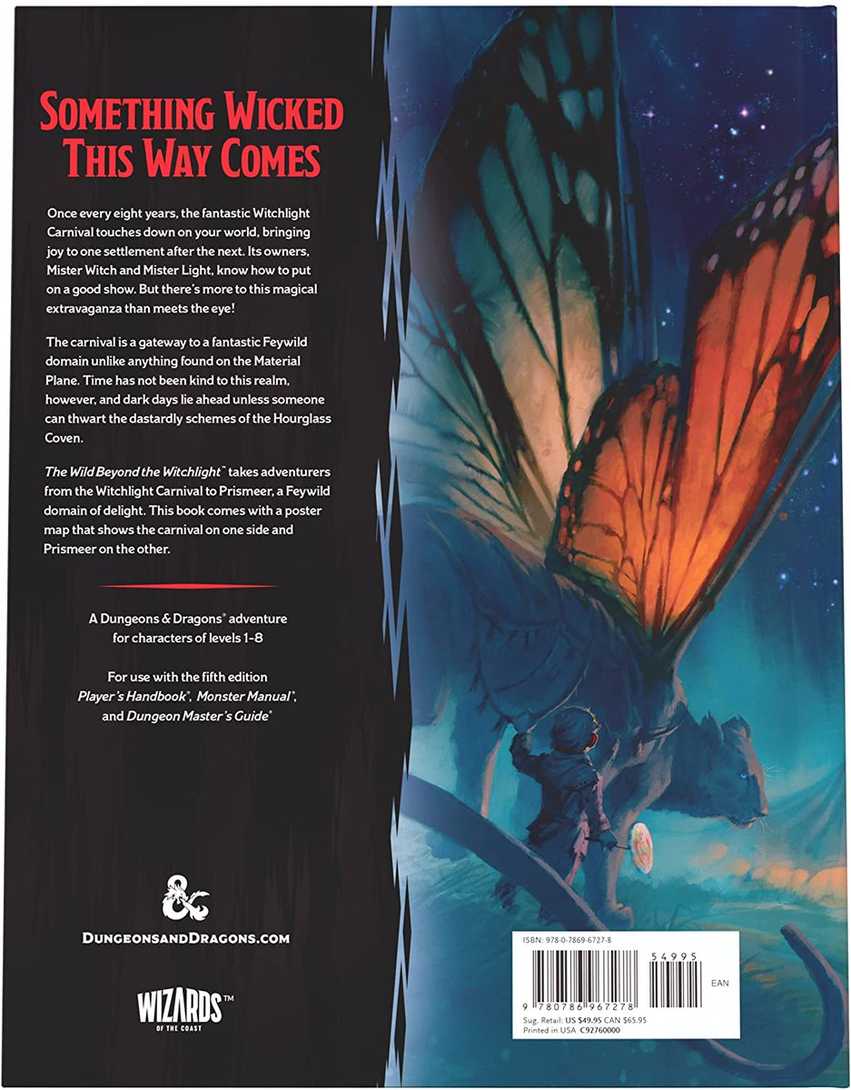 The Wild Beyond the Witchlight: A Feywild Adventure (Dungeons & Dragons Book)  40% off