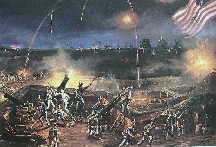 Today in 1814 a British assault failed to capture Baltimore. After the battle an American poet wrote, 'O say can you see, by the dawn's early light'