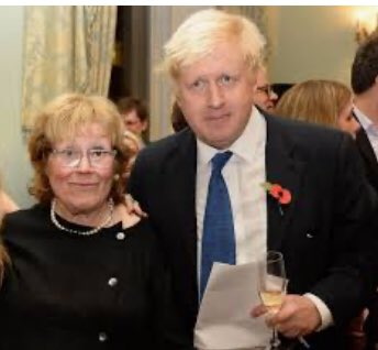"""Boris Johnson's mother Charlotte, who he described as the """"supreme authority"""" in his family, has died in hospital age 79 - via @Telegraph"""