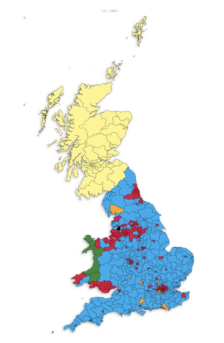 I can't quite put my finger on it but there is something about this latest projected electoral map that suggests a contradiction in how Scotland is governed under the current constitutional settlement 🤦🏻
