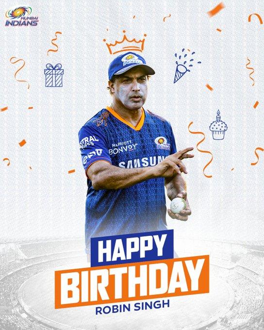 Happy birthday to our beloved batting coach Robin Singh