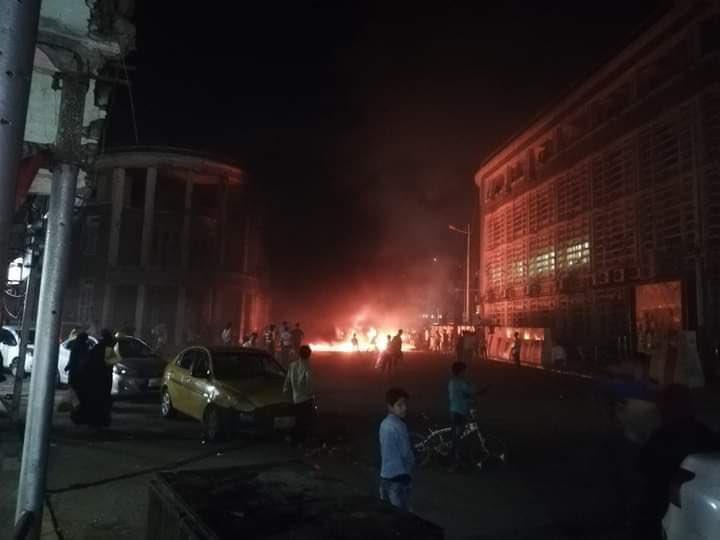 جانب من الاحتجاجات الليلية في عدن - تويتر