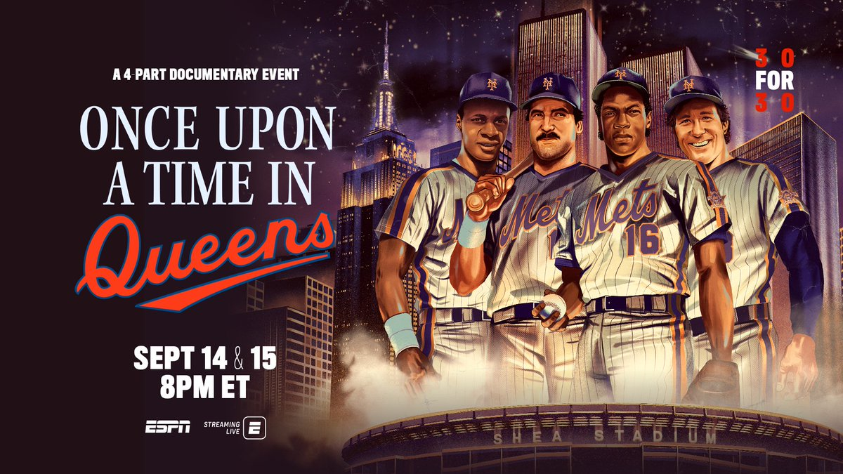 """MY #MetGala starts tomorrow. """"Once Upon a Time in Queens"""" about the 86 @Mets premieres TOMORROW on @ESPN. @30for30 https://t.co/QPcMjFYocC"""