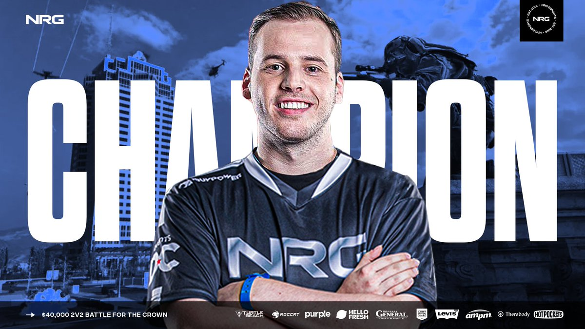 $40,000 2v2 Battle for the Crown Champions 🏆 GG's as @HusKerrs & @TBE_Newbzz take home the W #NRGFam 🔛🔝