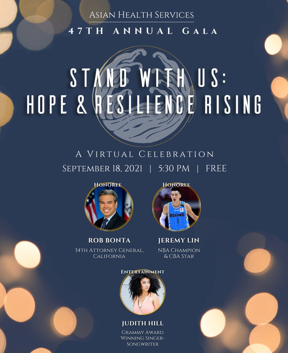 Join us for our Virtual Gala this Saturday. It's FREE to watch and see a program that includes @RobBonta @JLin7 and @Judith_Hill (https://t.co/VVx7CfWUvr)