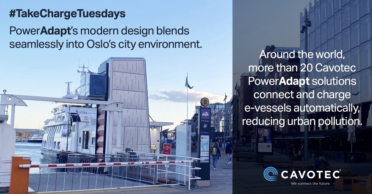 Our PowerAdapt #shorepower connection solution blends seamlessly into urban environments reducing #emissions in cities.   Learn more at: https://t.co/g2BxhaZKjT...  #cleantech #infrastructure #TakeChargeTuesdays #ports  #publictransportation #mobility #smartcity https://t.co/vIpXnFiR6e