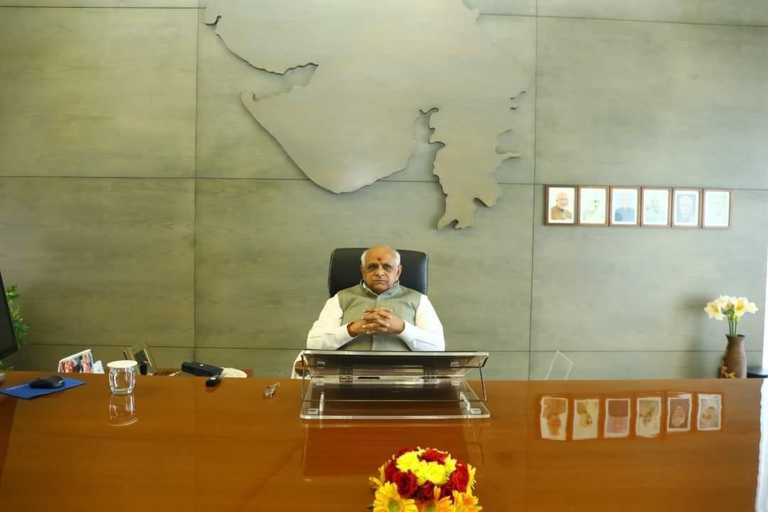 Gujarat CM on visit to flood-hit Jamnagar and Rajkot