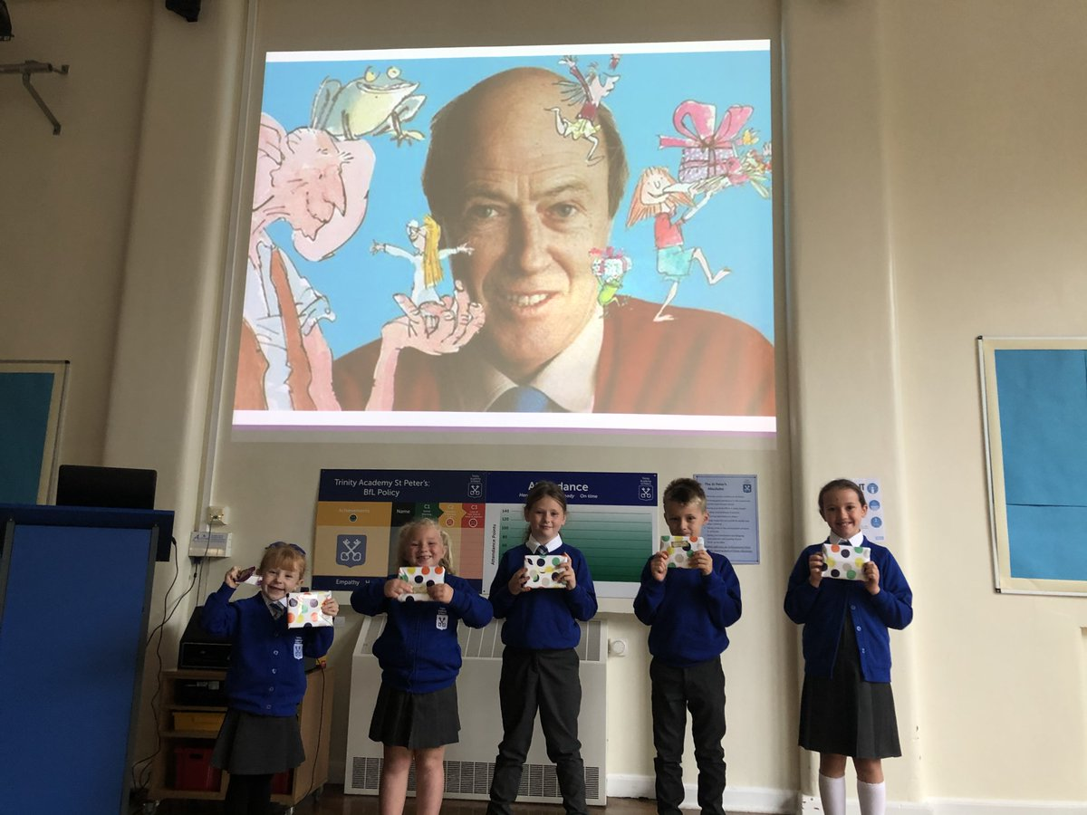 Yesterday was #RoaldDahlDay day! The day started with a surprise whole-school assembly where we listened to Mrs Dawson's favourite chapter from Charlie and the Chocolate Factory. All children were then briefed with the task of designing a TASP chocolate bar! 🍫 🤩