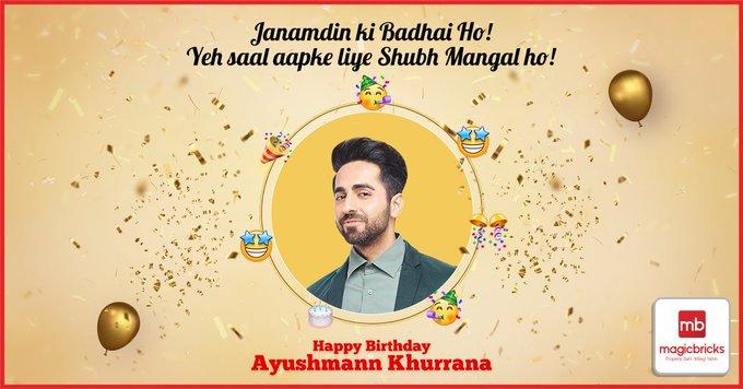 Wishing Ayushmann Khurrana a very happy birthday!