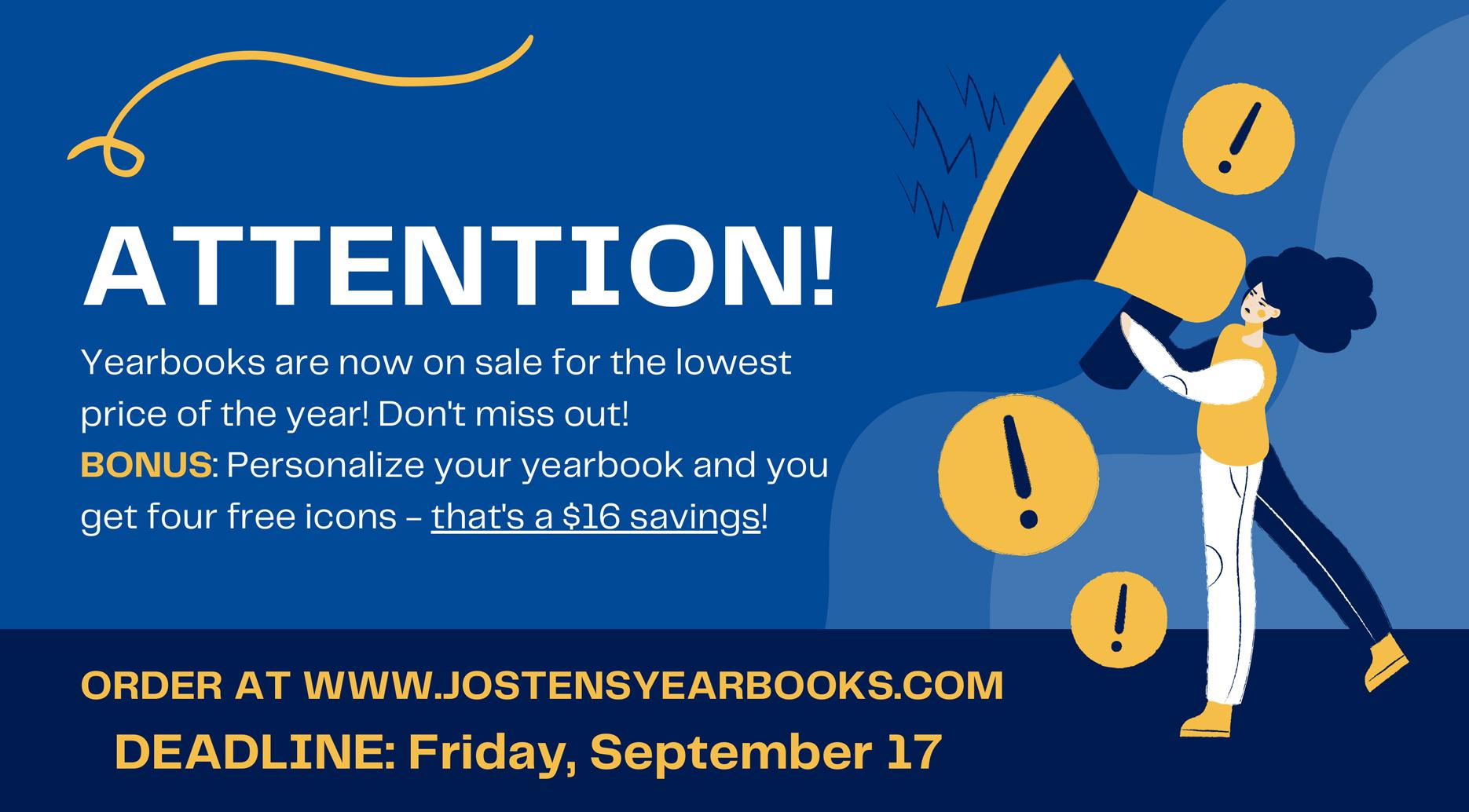 Jostens Yearbook Announcement