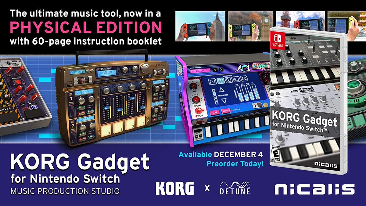 KORG Gadget (Switch) is down to $30.60 on Amazon:   lowest price ever