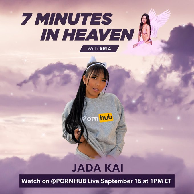 """Tune in tomorrow for my """"7 Minutes In Heaven"""" with @OfficialJadaKai on Pornhub's Instagram Live at 1pm"""