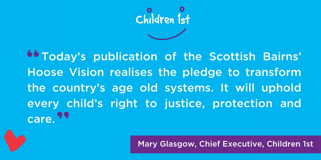 Delighted to welcome @scotgovjustice Scottish Bairns' Hoose Vision which will uphold all child victims and witnesses of abuse or violence rights to justice, care, support & recovery by 2025 and join @online_his @CareInspect symposium today. @keithbrownsnp bit.ly/bairnshoose