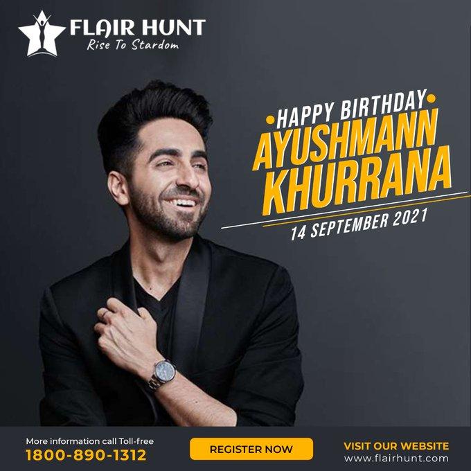 Wishing you a Happy Birthday .. Ayushmann Khurrana