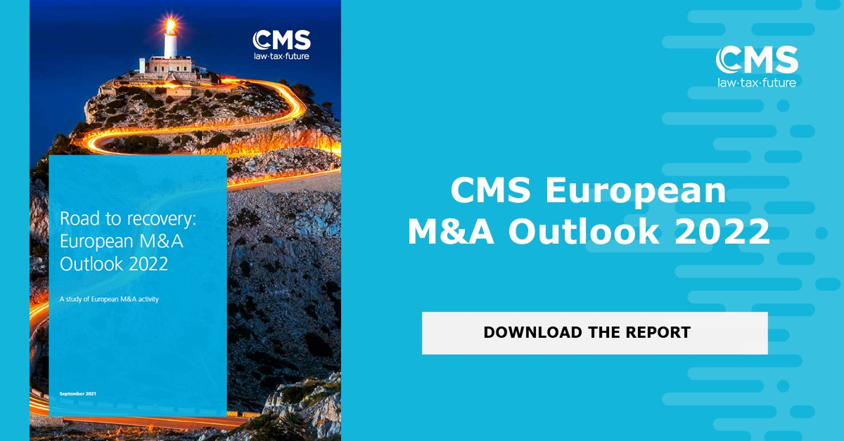 test Twitter Media - We are pleased to share with you the 9th edition of the CMS European M&A Outlook 2022: Road to Recovery in association with @Mergermarket. You can download the full version of the Outlook here: https://t.co/DL98GRtORn #corporatelaw #mergersandacquisitions https://t.co/TBk5rvjvaV