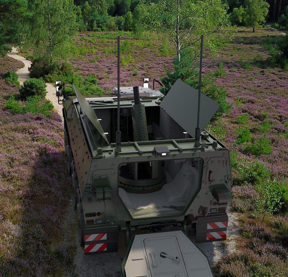 #Rheinmetall and @RH_BAES_Land unveil first ever #Boxer with mortar mission module at #DSEI2021   rheinmetall.com/en/media/edito…  #DSEI #defence #army
