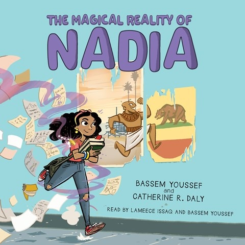 """#WelcomingWeek """"Lameece Issaq's youthful narration captures ... 6th grader Nadia"""" newly back from Egypt to reunite with her """"Nerd Crew"""" w/ Egyptian comedian & coauthor @Byoussef (w/ Catherine R Daly) narrates several small bits @Scholastic https://t.co/PpvnUqjLE4 https://t.co/kDdjgcfZ5R"""
