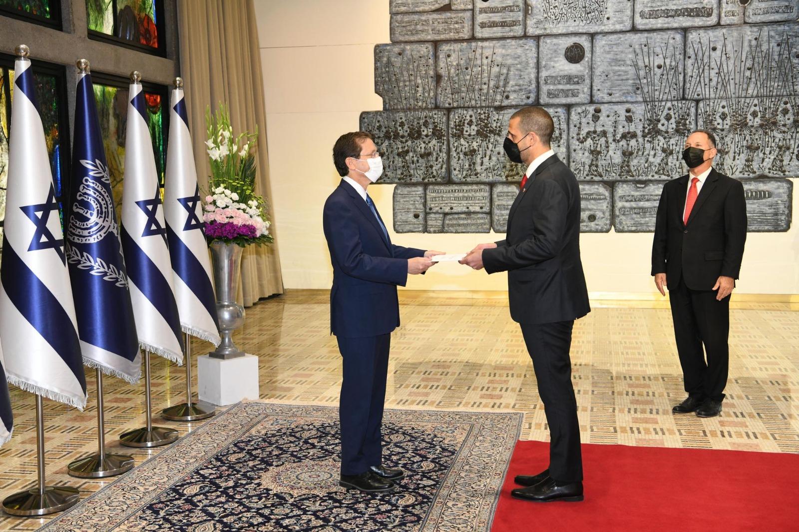 Bahrains 1st ambassador to Israel presents credentials