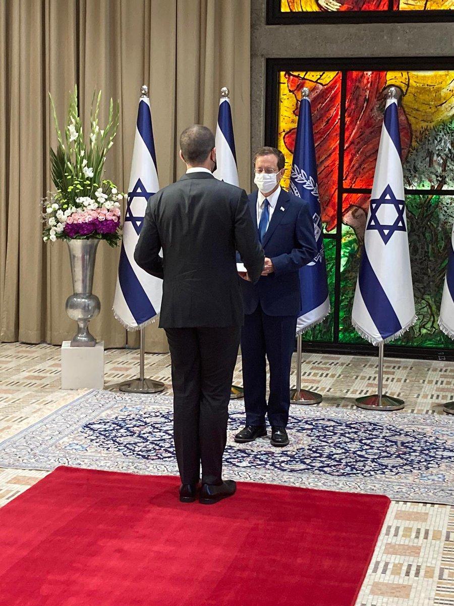 فرحة مضاعفة في اليوم الذي يتزامن فيه تقديم سعادة السفير البحريني لدى إسرائيل