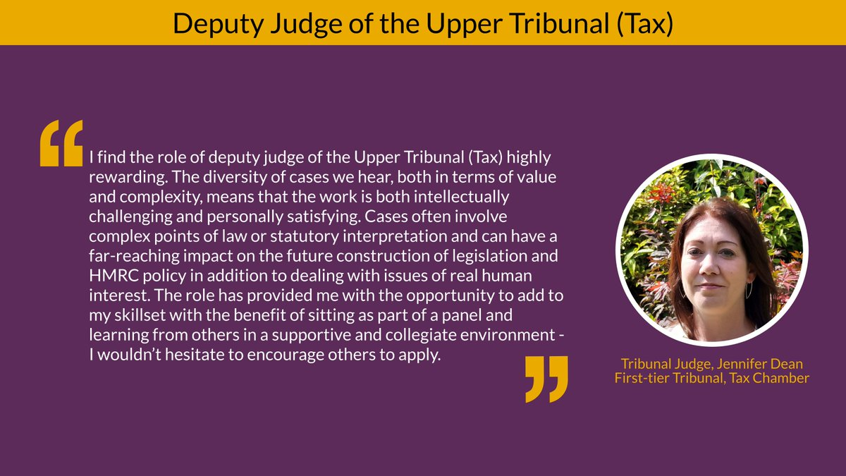 Your opportunity to become a tax judge