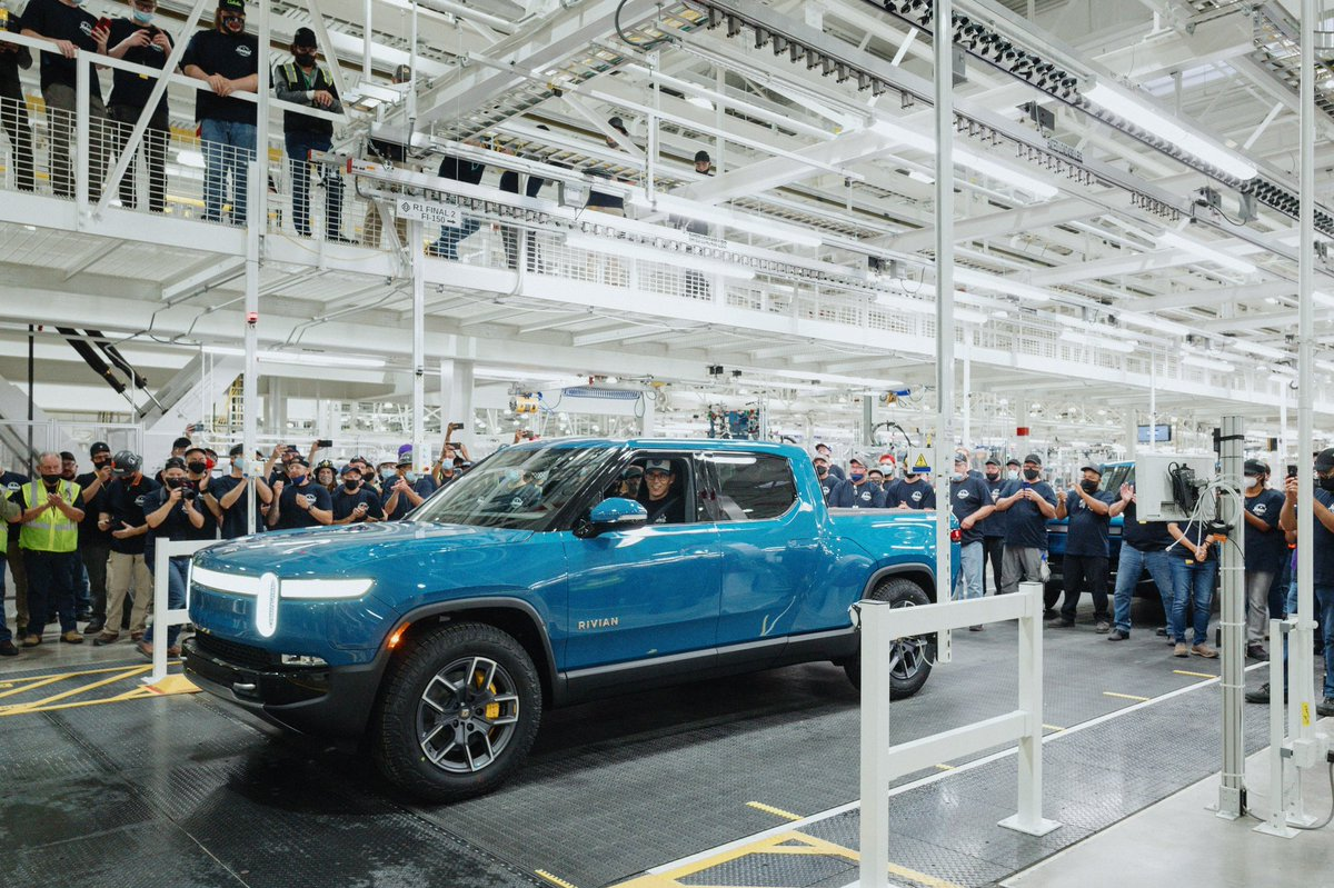 The @Rivian EVs are starting to roll off the production line!  Coming soon to a community near you!  #txenergy