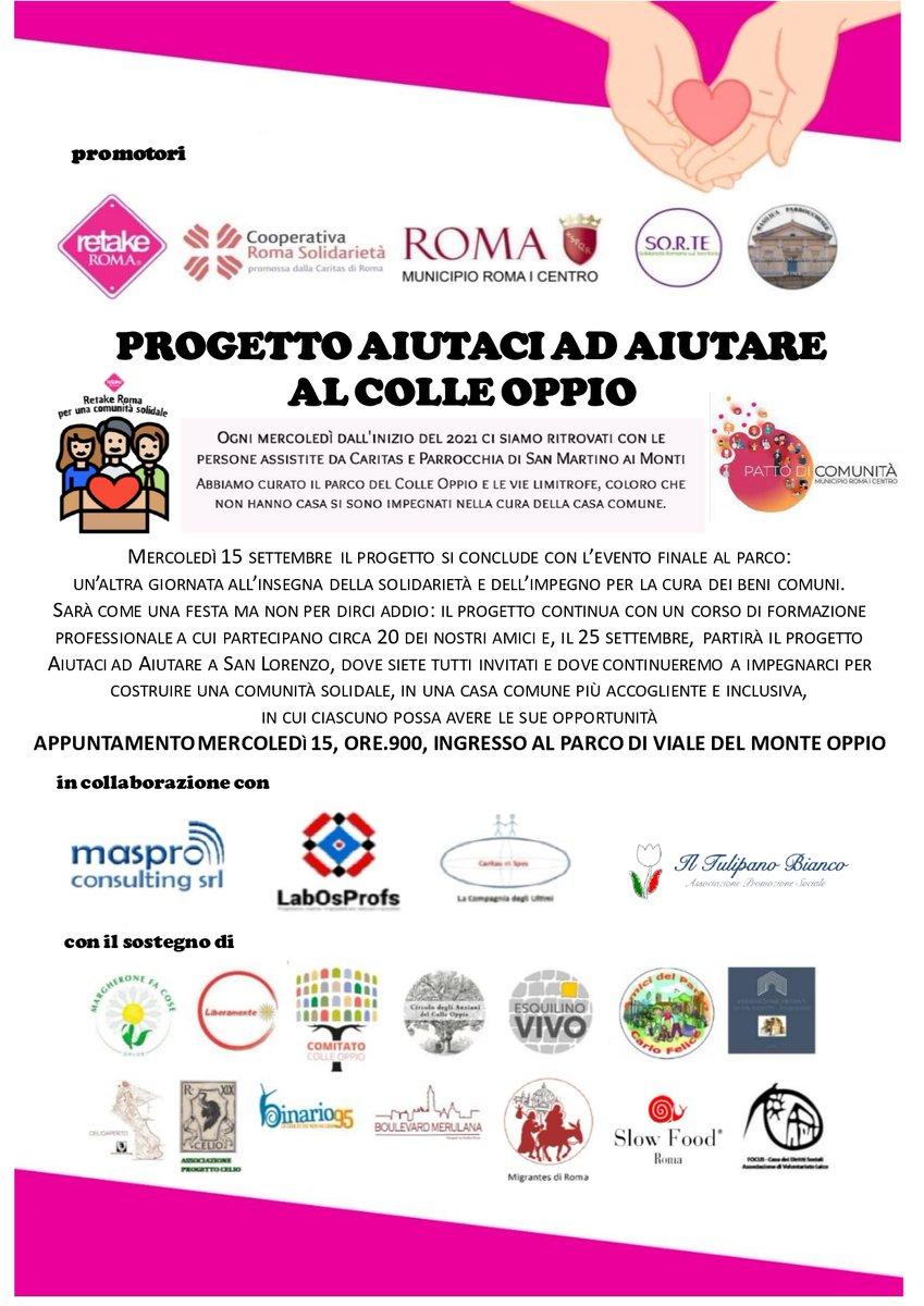 test Twitter Media - Domani, mercoledì 15 settembre ore 9:00, evento conclusivo del  progetto solidale al Colle Oppio. https://t.co/J9SAkzFyxW