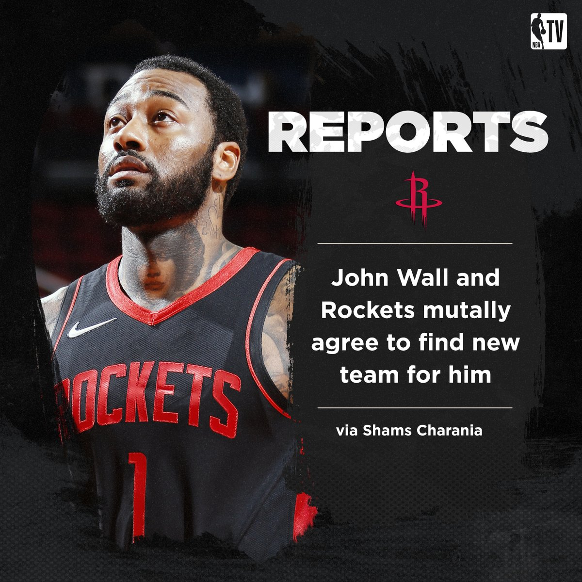 John Wall and the Rockets are mutually working to find him a new team, per @ShamsCharania Wall is not expected to play in Houston this upcoming season