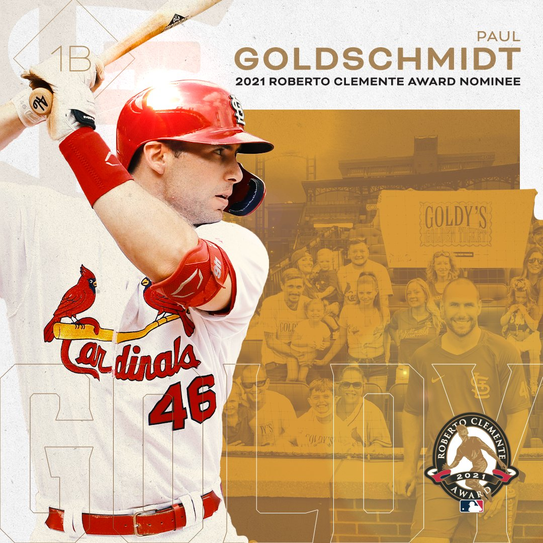 Paul Goldschmidt is our 2021 Roberto Clemente Nominee! VOTE GOLDY // mlb.com/clemente21