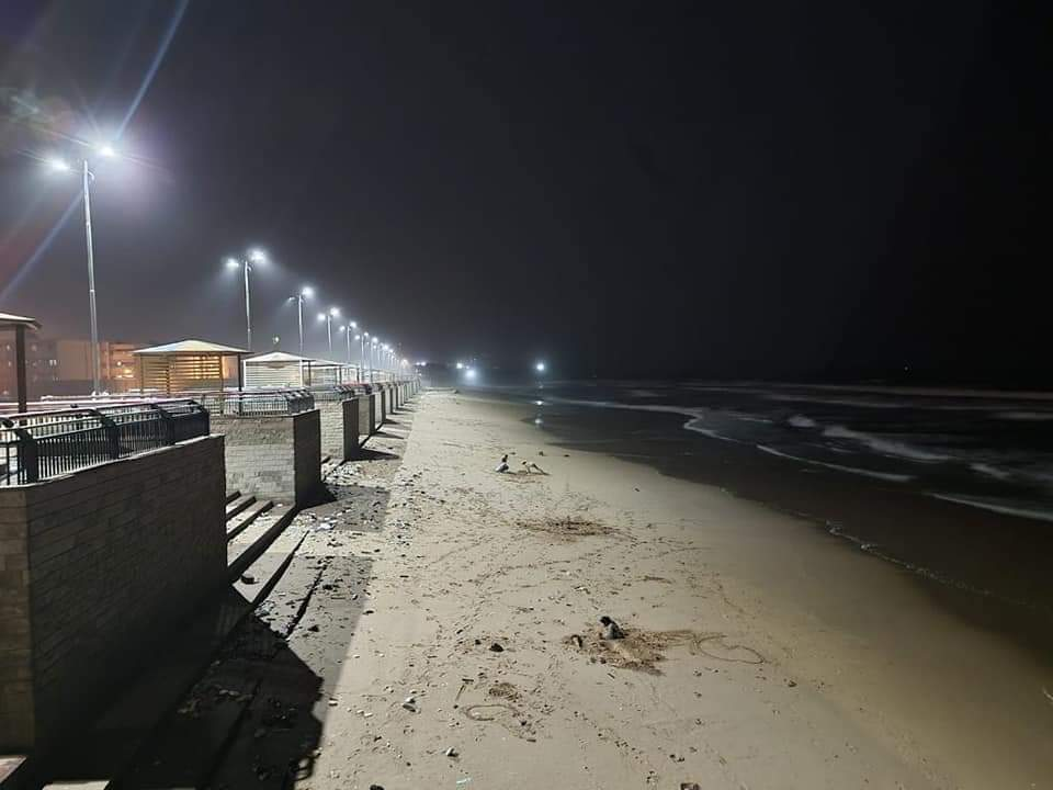 A promenade is being developed beside the huts in Manora Island Beach. (Murtaza Wahab)