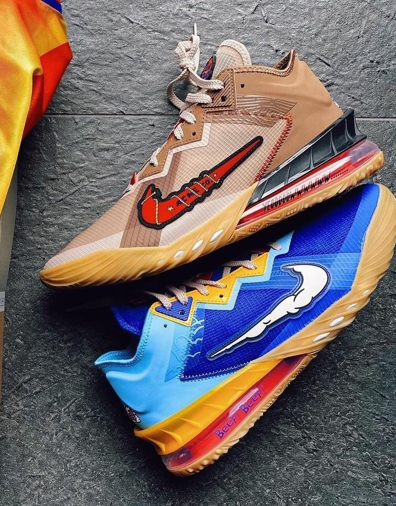 Space Jam x Nike LeBron 18 'Wile E. vs Roadrunner' restocked on FTL  Link -