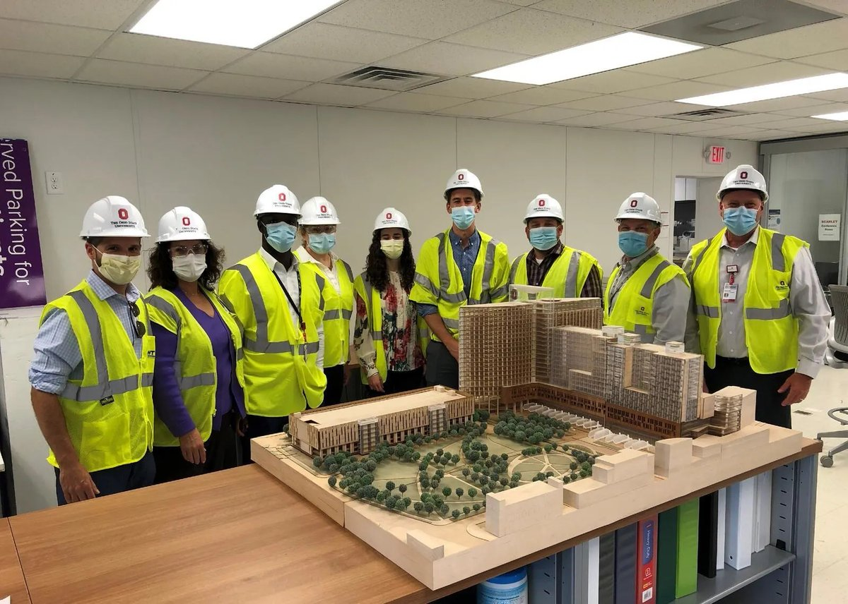 Members of our administration team took a 'tour' of the new inpatient hospital tower, a 1.9 million-square-foot facility that will enhance a unified #OSUWexMed campus providing leading-edge research, outstanding clinical training and world-class patient care.
