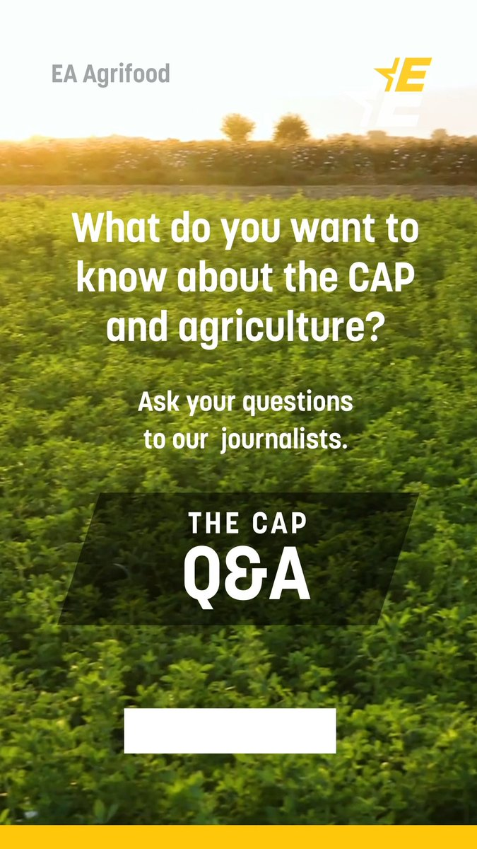 Good opportunity to ask your questions about #CAP and/or agriculture 🧺👩🌾