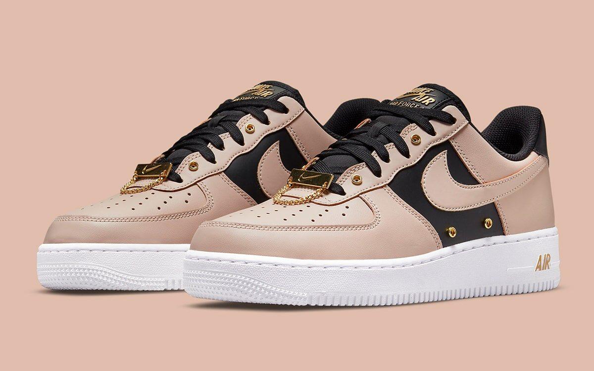 Nike Air Force 1 '07 Premium Gold Chain 'Particle Beige