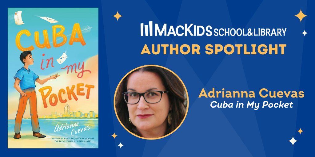 Happy #BookBirthday to CUBA IN MY POCKET, which has received 🌟THREE starred reviews!🌟 Get to know author @acuevaswrites & the personal story behind her new middle grade novel in our #MacKidsSpotlight series: bit.ly/3C8iLba  #HispanicHeritageMonth #LatinxHeritageMonth