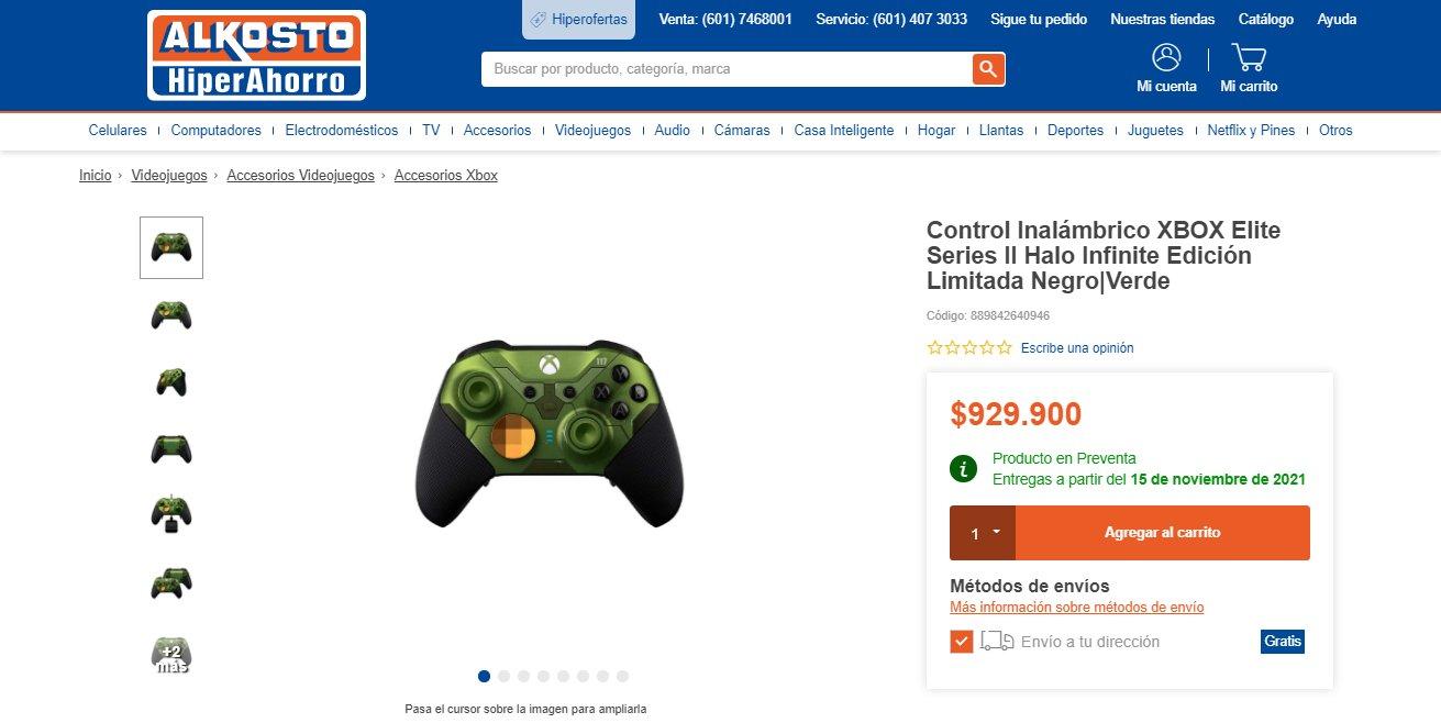 Control Xbox elite edición Halo aniversario 20 años