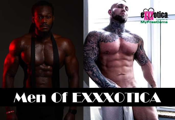 Men of EXXXOTICA Male Revue performing on the main stage sponsored by @chaturbate