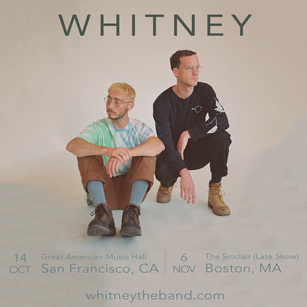 @whitneytheband's photo on JUST ANNOUNCED