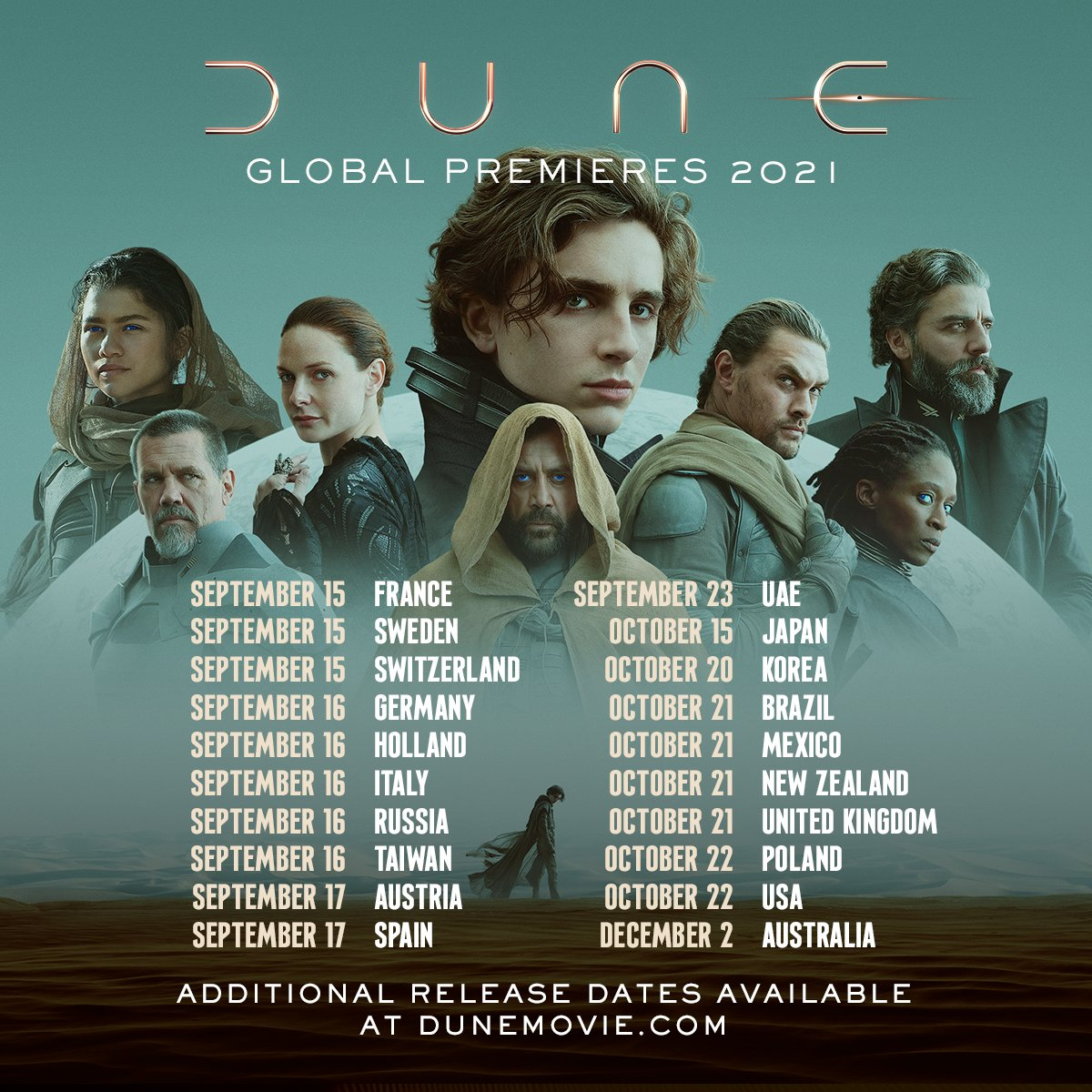 This week #DuneMovie begins its global roll out! Do you have your ticket yet? 🎟