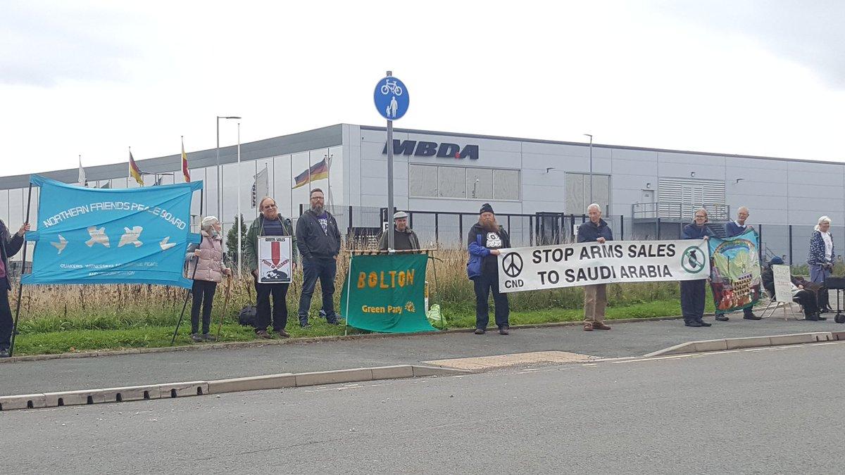 Solidarity from Bolton #QuakerRoots #StopDSEI #QuakersinBritain #StopArmingSaudi
