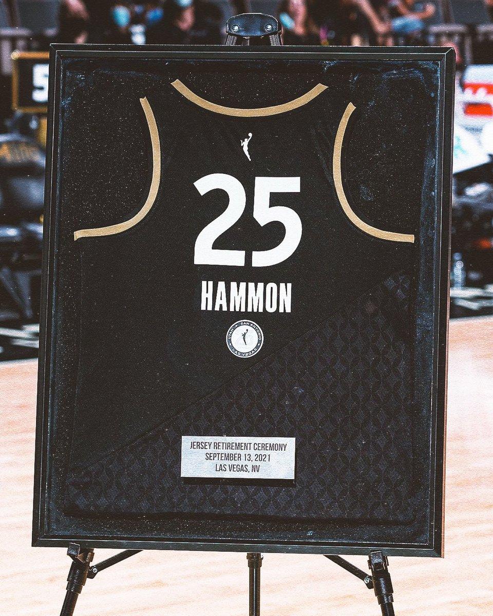 Undrafted ➡️ Having her jersey retired. Becky Hammon is a legend 👏 @BeckyHammon | @LVAces