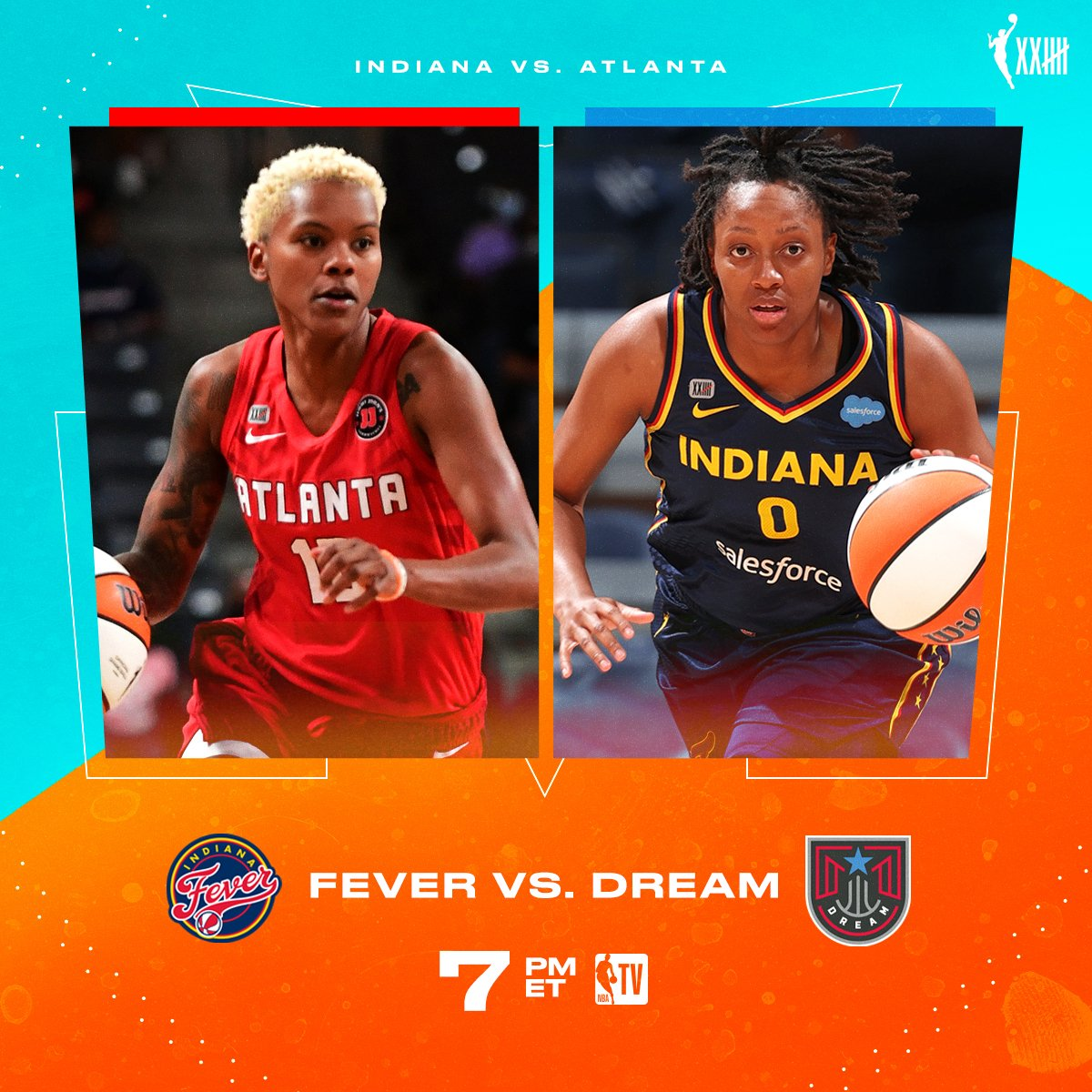 The @AtlantaDream and @IndianaFever look to finish out the season strong 💪 📺 Dream vs. Fever // 7pm ET on NBA TV!