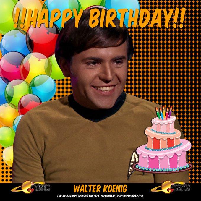 Please join us in wishing Walter Koenig a very Happy Birthday!