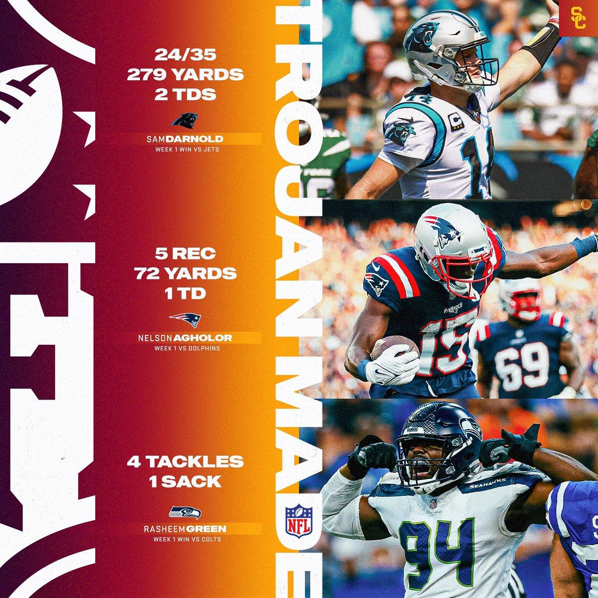 Week 1️⃣ @NFL Top Performers  #TrojanMade⚔️