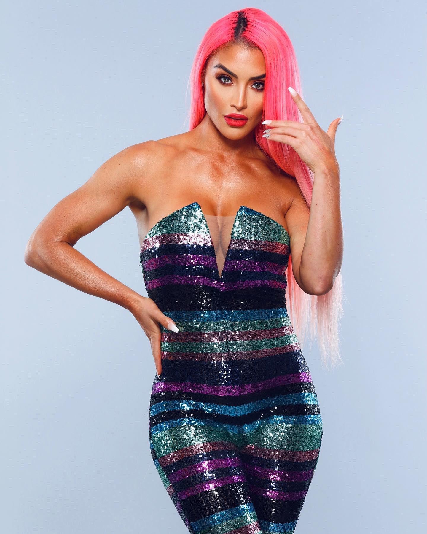 WWE Star Eva Marie Shares New Glittering Pink Power Photos 127