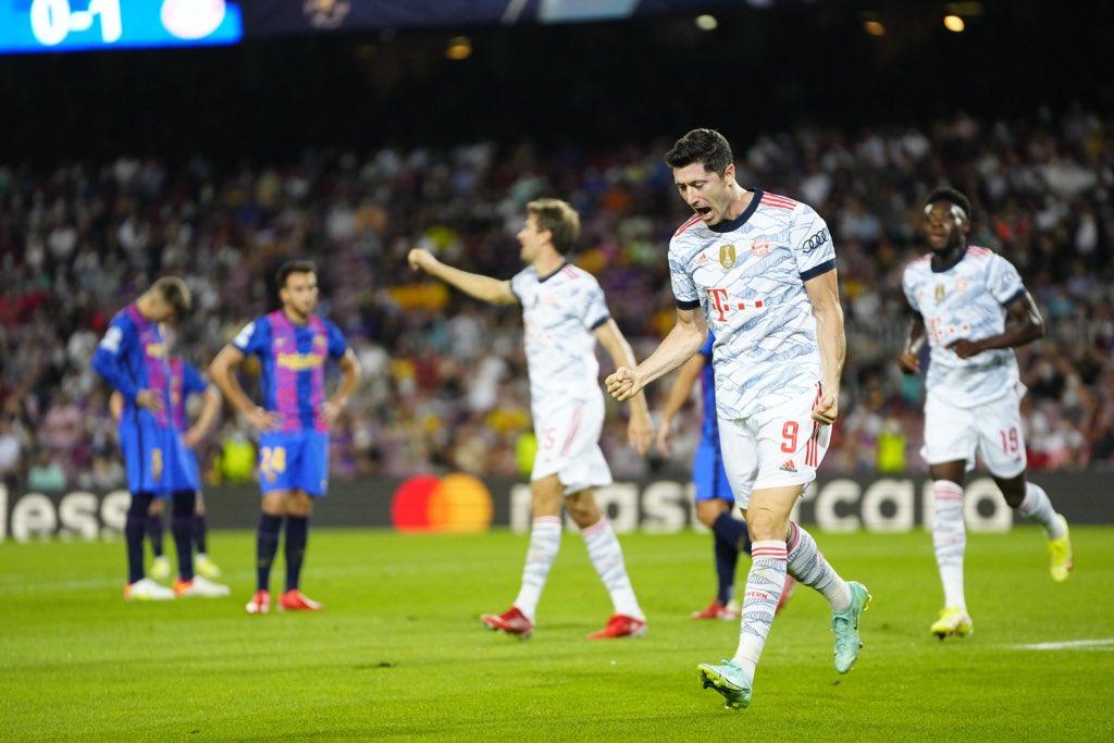 بايرن ميونخ يدمر برشلونة بثلاثية نظيفة في دوري الابطال
