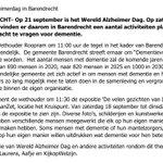 """@BarendrechtnuNL - Ingezonden door KijkopWelzijn: """"Op 21 september is het Wereld Alzheimer Dag. Op zaterdag 18 september vinden er daarom in Barendrecht een aantal activiteiten plaats om extra aandacht te vragen voor dementie."""" https://t.co/0UPx35r6Ff"""