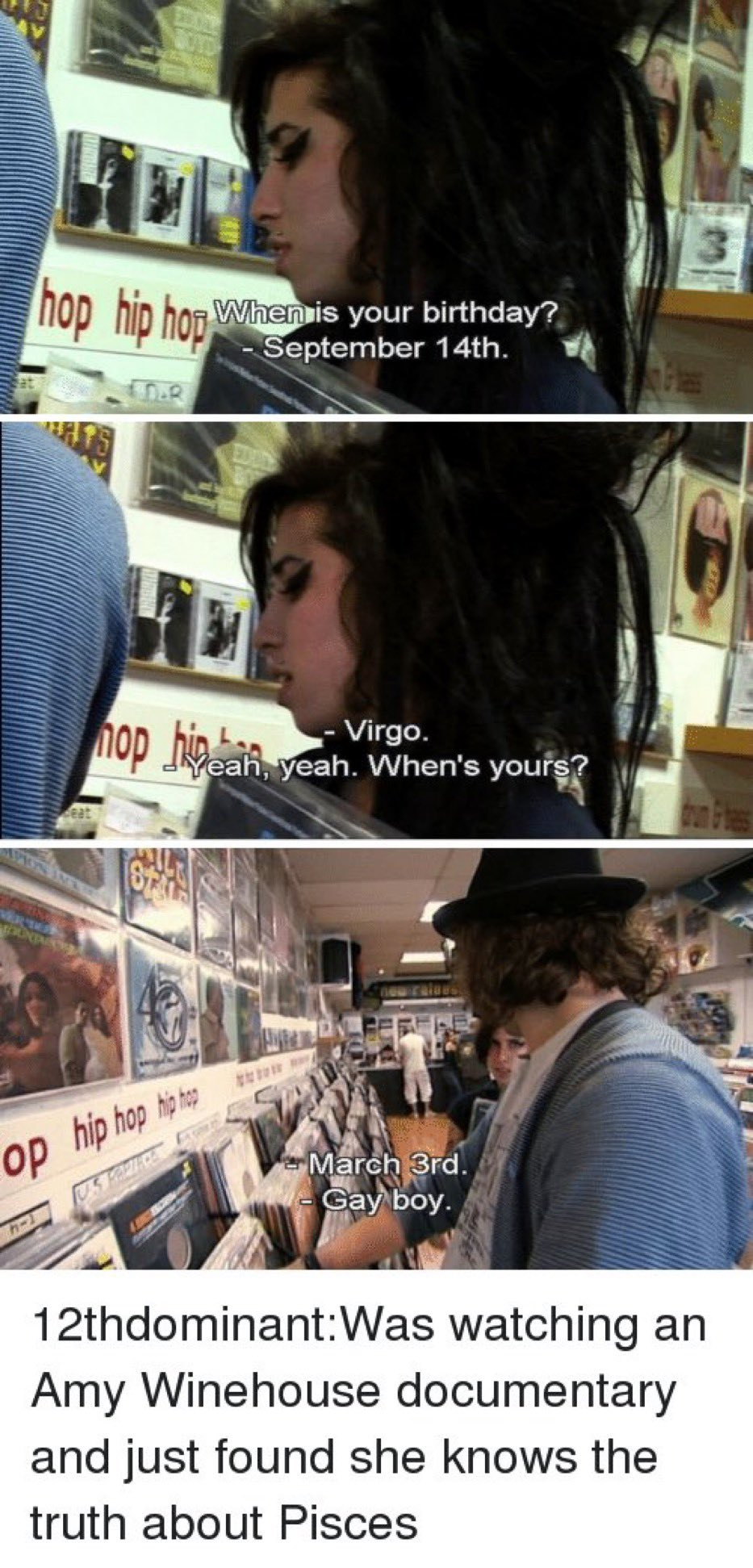 Happy Birthday Amy Winehouse (I love this moment because my bday is March 3rd  )