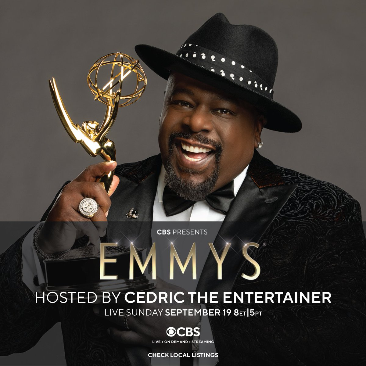 .@CedEntertainer and #Emmy make a perfect pair! Watch the 73rd Emmy Awards LIVE on Sept. 19th at 8pm ET/5pm PT on @CBS and streaming on @ParamountPlus! #Emmys #Emmys2021
