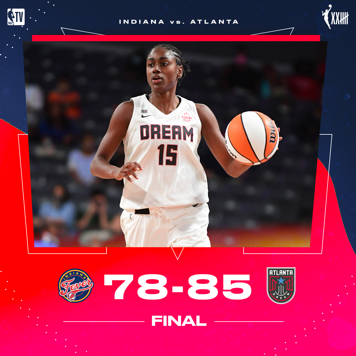 The @AtlantaDream get the win behind 31 PTS by Tiffany Hayes 👏